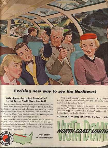 North Coast Limited's Vista Dome (1954)