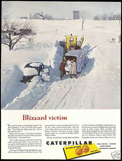 Caterpillar Motor Grader Snow Plow Ambulance (1954)