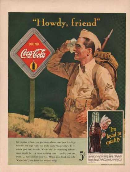 Howdy Friend Drink Coca Cola (1942)