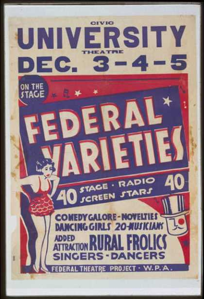 Federal varieties – 40 stage, radio, screen stars. (1936)
