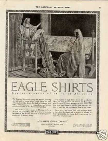 ebee36821 Eagle Shirts Ad Edward B. Edwards Art (1920)