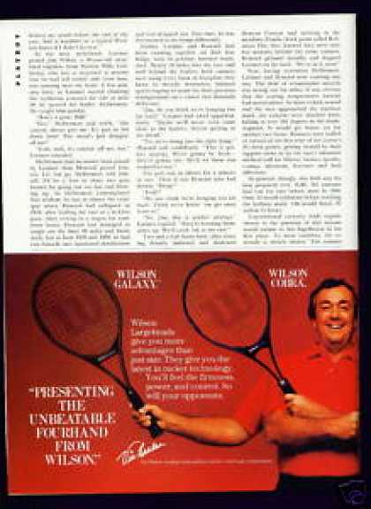 Tennis Pro Vic Braden In Wilson Largeheads C (1982)