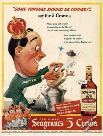 Seagram's 5 Crown Nice Wwii Don't Gossip (1943)