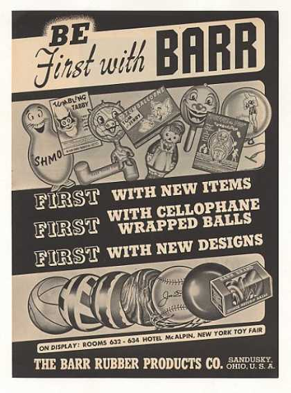 Barr Rubber Products Sandusky OH Toy Ball Trade (1949)