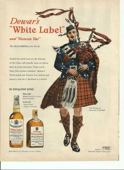 White Label & Victoria Vat Scoth (1949)