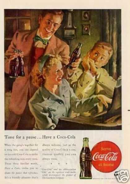 "Coca-cola Ad ""Time for a Pause... (1947)"