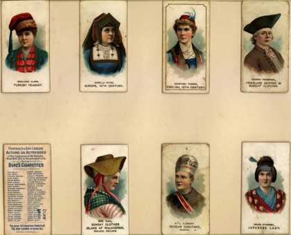 W. Duke Sons & Co.'s Duke's Cigarettes – Actors and Actresses in the Costumes of All Nations