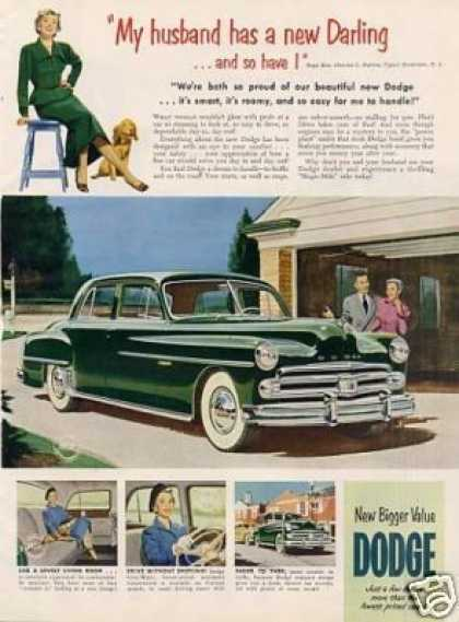 "Dodge Car Ad ""My Husband Has a New Darling... (1950)"