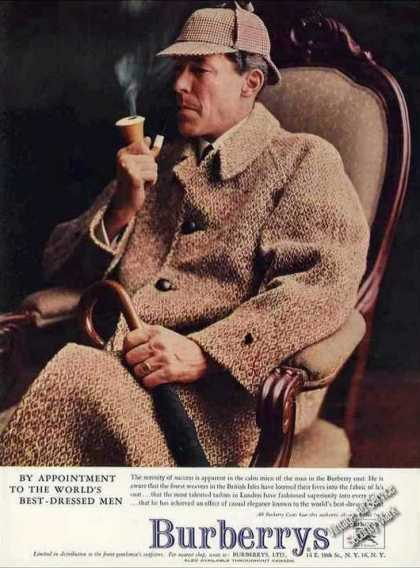 Burberrys Fashion Ad Nice Mans Coat Photo (1957)
