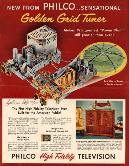 Philco's Television – New from Philco... Sensational Golden Grid Tuner (1952)