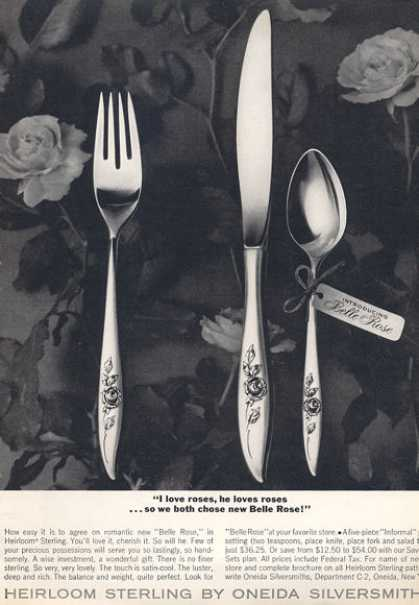 Oneida Sterling Silver Belle Rose (1963)