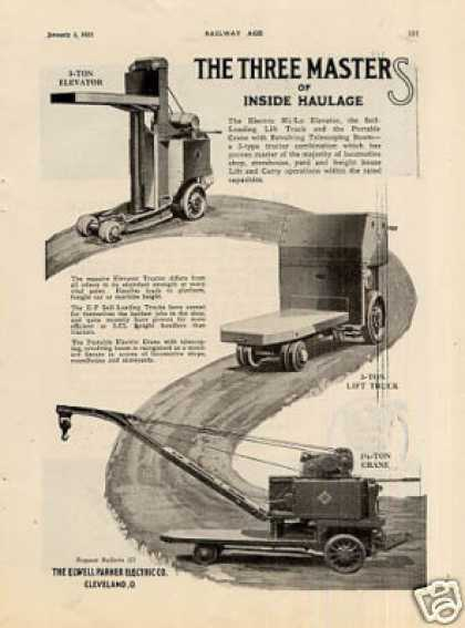 Elwell Parker Lift Trucks (1925)