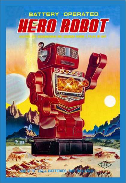 Battery Operated Hero Robot