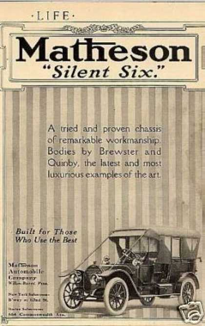 Matheson Silent Six Car (1912)