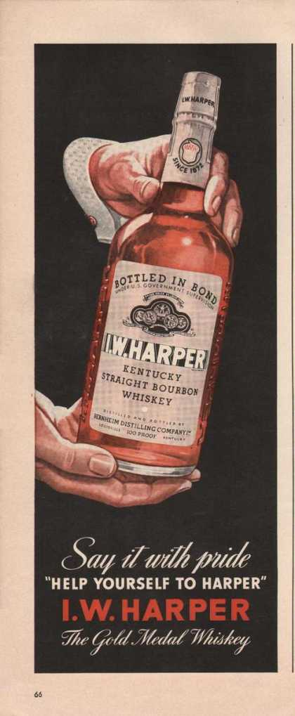 Help Yourself I W Harper Whiskey (1941)