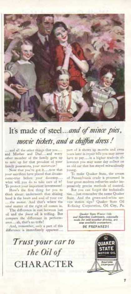 Quaker State Oil – Oil of Character (1940)