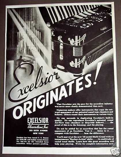 Excelsior Accordian Musical Instruments (1937)
