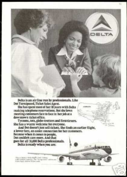 Delta Airlines Dot Turnipseed Ticket Agent (1978)
