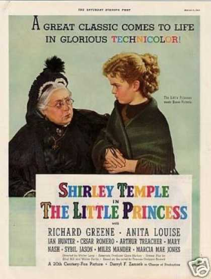"Movie Ad ""The Little Princess"" Shirley Temple (1939)"