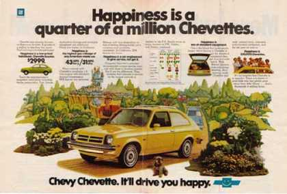 Chevy Chevette Car – Happiness is a quarter of a million Chevettes (1977)