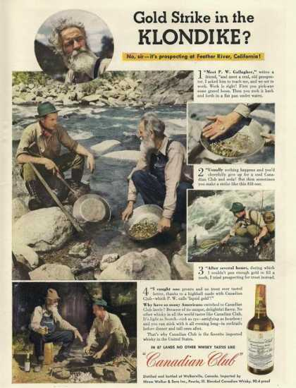 Gold Strike Canadian Club Whiskey (1943)
