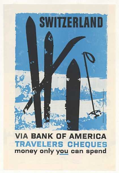 Switzerland Ski art Bank of America (1959)