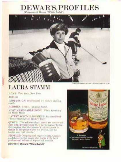 Dewar's White Label Scotch – Hockey's Laura Stramm (1975)