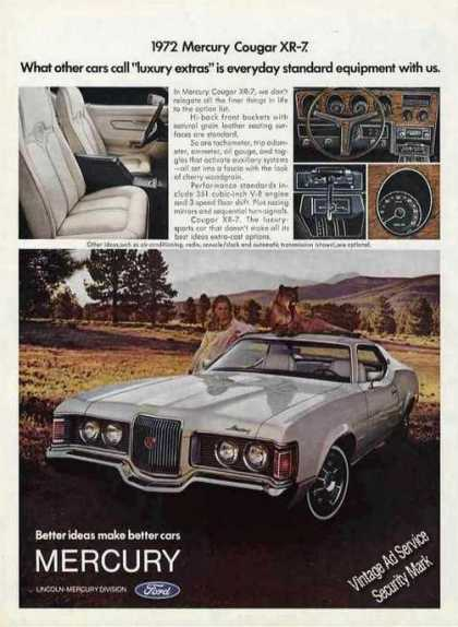 Mercury Cougar Xr-7 Nice Color Photos (1972)