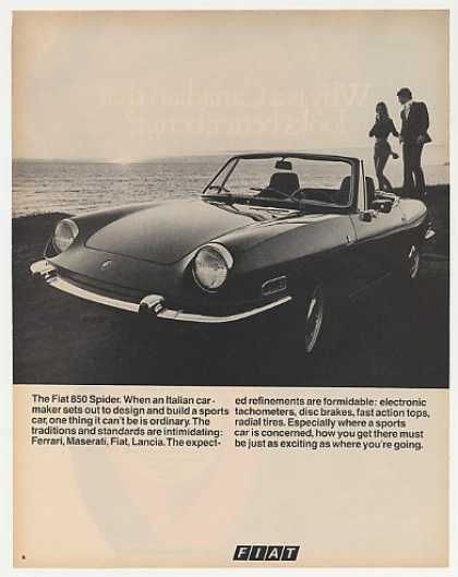 Fiat 850 Spider Sports Car Photo (1970)