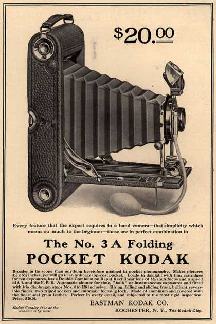 Kodak – The No. 3A Folding Pocket Kodak (1908)