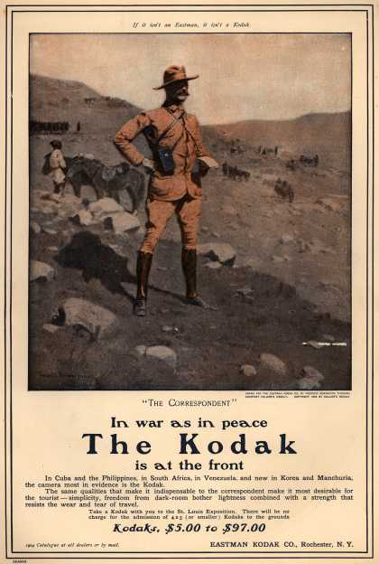 Kodak – In war as in peace The Kodak is at the front (1904)