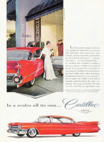 Cadillac Sedan De Ville at Perino's (1959)