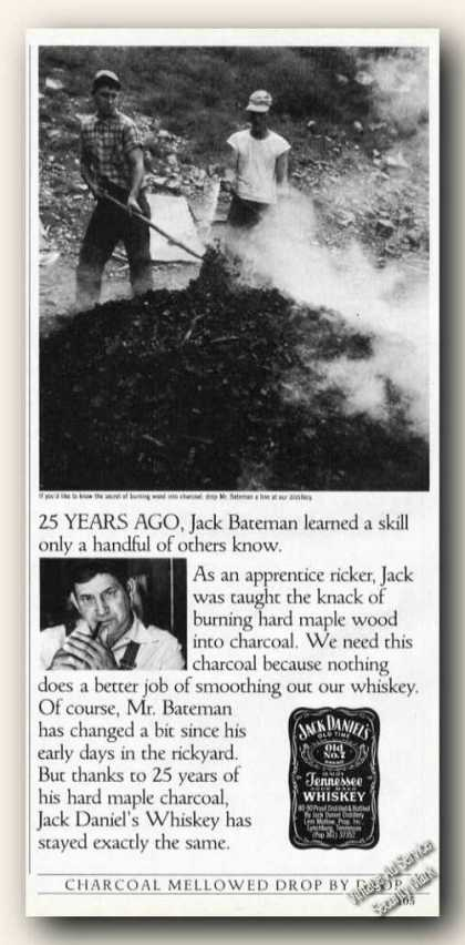 Jack Daniels Mr Bateman Making Maple Charcoal (1985)