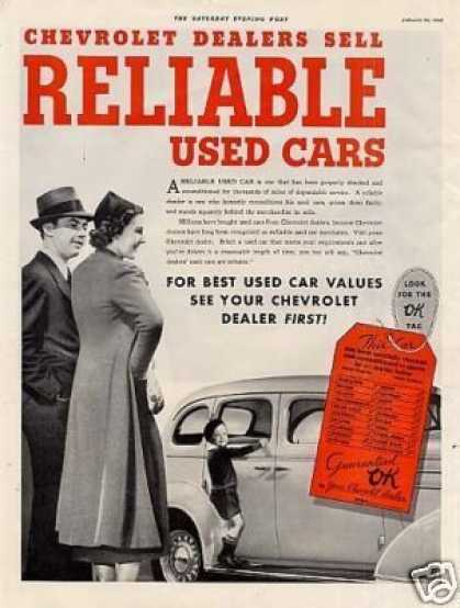 Ok Used Cars Ad Chevrolet (1938)