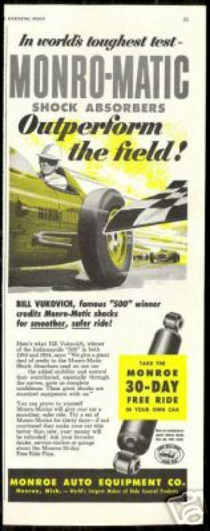 Indy 500 Bill Vukovich Monroe Car Shocks (1954)