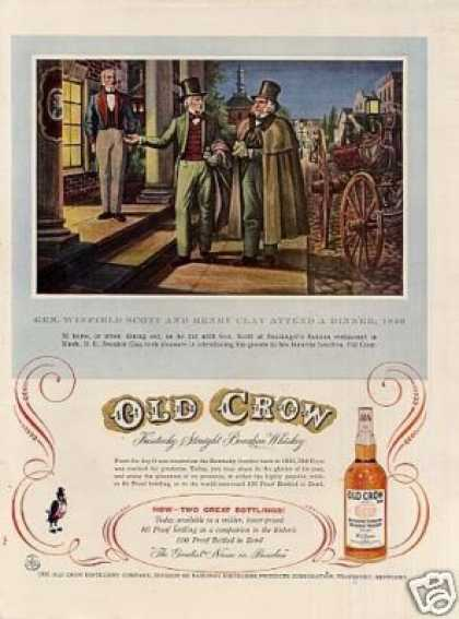 Old Crow Bourbon Whiskey (1956)