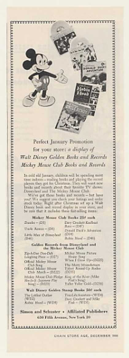 Walt Disney Mickey Mouse Golden Books Trade (1955)