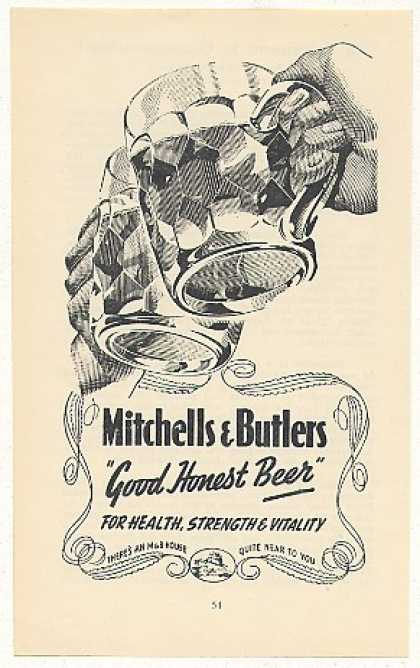 Mitchells & Butlers Good Honest Beer Mugs UK (1949)