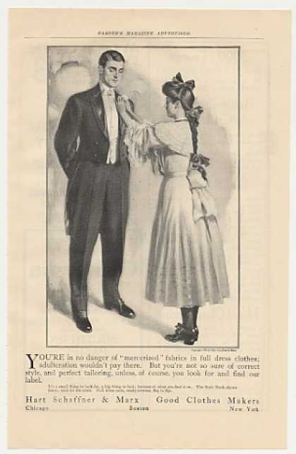 Hart Schaffner & Marx Man Dress Suit (1905)