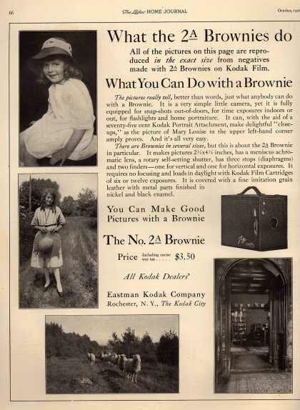 Kodak's Brownie cameras – What the 2A Brownies do (1921)