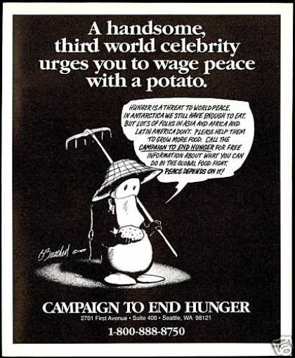 Opus Comic Campaign to End Hunger Seattle (1990)