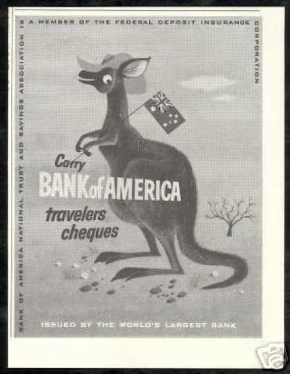 Kangaroo Australia Flag Bank Of America (1953)