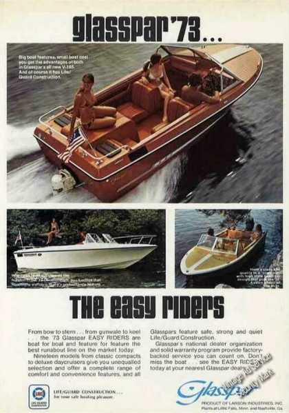 "Glasspar Photos (3) ""The Easy Riders"" Boat (1973)"