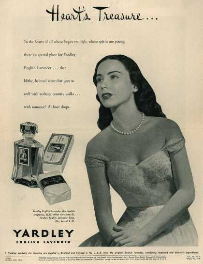 Yardley of London's Yardley's English Lavender – Heart's Treasure (1943)