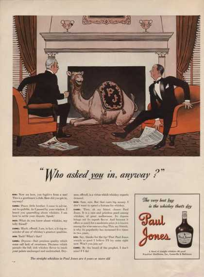 Paul Jones Whiskies With a Camel (1941)
