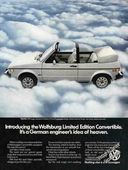 Vw Wolfsburg Limited Edition Convertible Photo (1984)