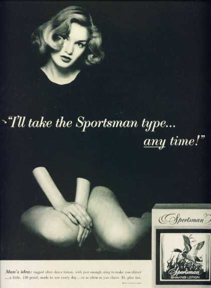 Sportsman Shaving Lotion Very Sexy Woman (1956)