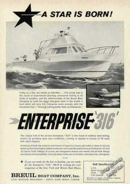 Enterprise 316 Art Breuil Boat N Miami Beach Fl (1963)
