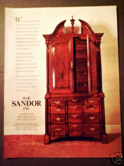 Sandor Antiques 1730 Queen Anne Chest Photo (1970)