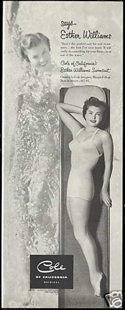 Esther Williams Photo Cole Swimsuit Vintage (1951)